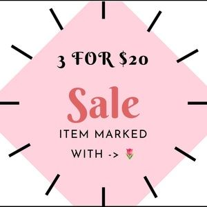 SALE!! 3 items for $20!!